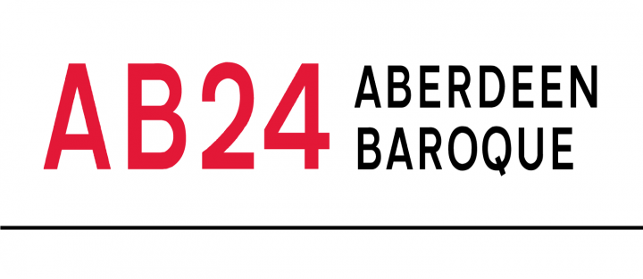 AB24 Aberdeen Baroque logo in red and black on white background