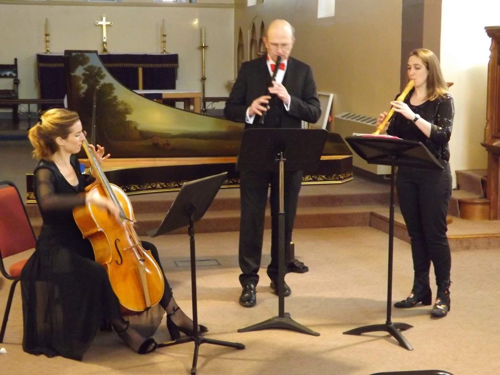 AB24 in concert with Baroque cello and two recorders